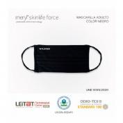 Mascarilla meryl adulto negra con flexo Skinlife Force 30 lavados y reciclable